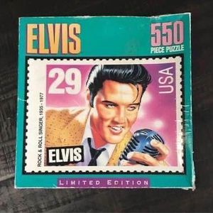 NEW Elvis Presley Stamp 550 Piece Puzzle box not in great condition just $5 for Sale in Port St. Lucie, FL