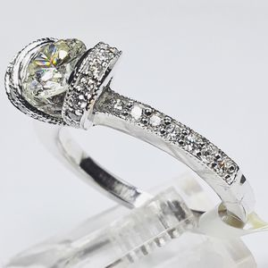 Diamond Engagement / Anniversary / Unity Ring Custom Made Tiffany Design 1 Carat Diamonds Gemological Lab Appraisal $7900 Now $3780 for Sale in Fort Lauderdale, FL