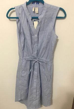 Blue and white striped dress with pockets for Sale in Haines City, FL