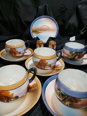 Vintage Noritake CHIKARAMACHI 13pc set saucers cups & salt & pepper shakers for Sale in South Zanesville, OH