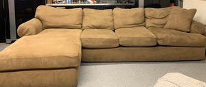 "Microsuede couch. 11' width. Chaise section extends 5'9"" for Sale in Fremont, CA"