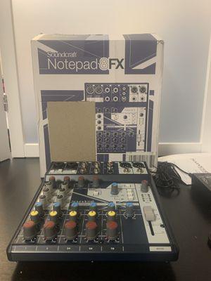 Soundcraft Notepad-8FX for Sale in Las Vegas, NV