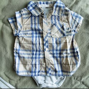 Body shirt buttons down Burberry 6 / 9 months baby kids girls boys for Sale in Miami, FL