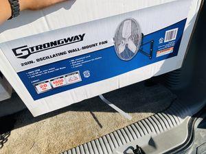 20 inch oscillating fan- wall mount fans for Sale in Hurst, TX