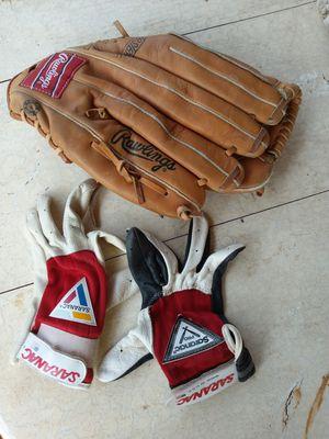 Rawlings Left Handed Baseball Softball Glove Mitt & Small Gloves for Sale in Garland, TX