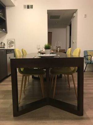 Gorgeous rectangular wooden dining table (or oversized desk) for Sale in San Francisco, CA
