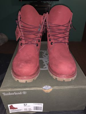 Burgundy Timberland Boots Men 8.5 for Sale in New York, NY