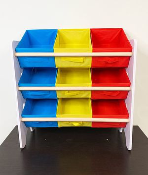 "$25 NEW Small Kids Toy Storage Organizer Box Shelf Rack Bedroom w/ 9 Removeable Bin 24""x10""x24"" for Sale in Pico Rivera, CA"