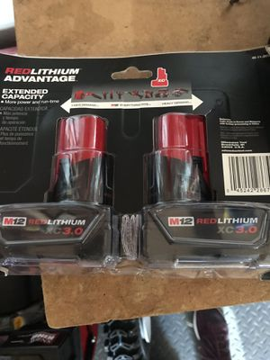 M12 Red Lithium XC 3.0 Batteries 2 Pack for Sale in Philadelphia, PA
