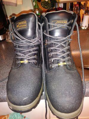 Texas steer steel toe boots for Sale in Niagara Falls, NY