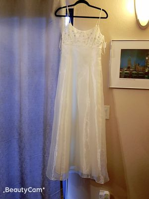 Elegant designer white dress, wear once for Sale in Alameda, CA