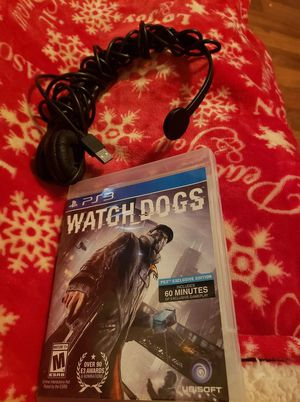 Ps3 headset and watchdogs for Sale in Arvonia, VA