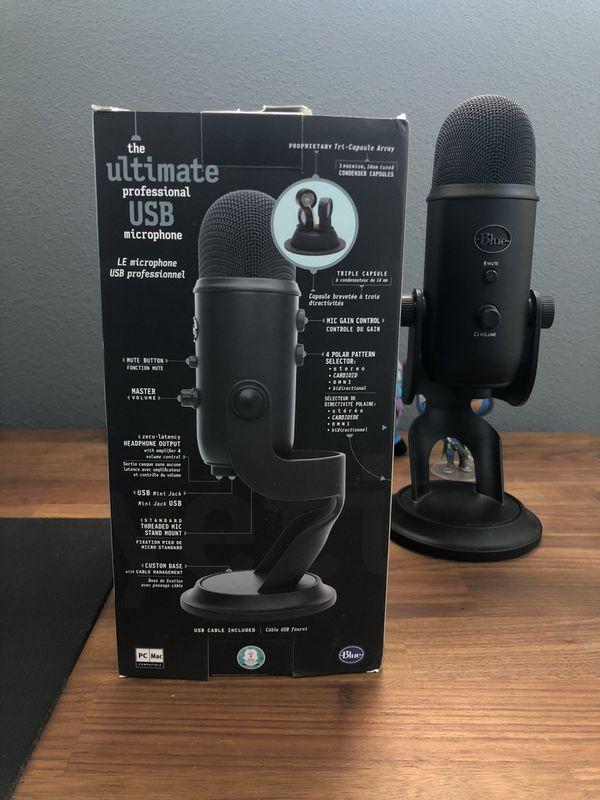Blue Yeti Microphone (Blackout Edition)