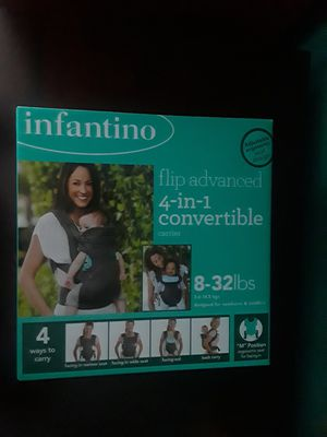 Gray baby Infantino 4 in 1 convertible carrier for Sale in Santa Monica, CA