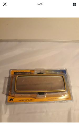 K-SOURCE GOLD REAR VIEW MIRROR, GMC FORD CHRYSLER PART DN093 for Sale in Los Angeles, CA