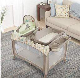 Ingenuity Washable Playard With Changing Table, Sound Station, Mattress and 2 Fitted Sheets for Sale in Pleasanton,  CA