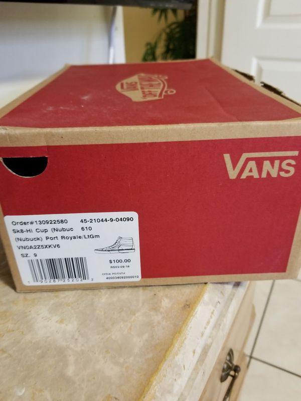 Brand New Van's Size 9