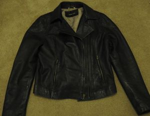 Small Black Rivet Leather Jacket for Sale in Las Vegas, NV