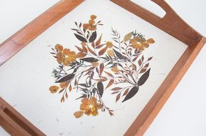 Vintage pressed foliage wooden tray for Sale in Santa Ana, CA