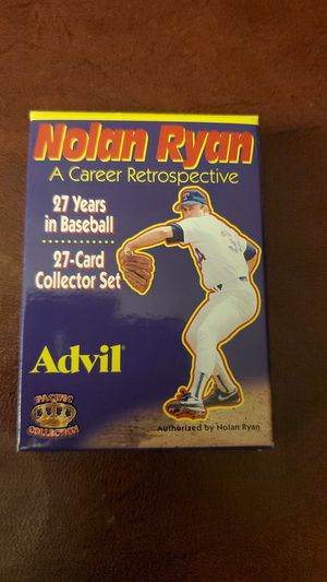 1996 Pacific Collection Advil Nolan Ryan Baseball 27-card set for Sale in Ontario, CA