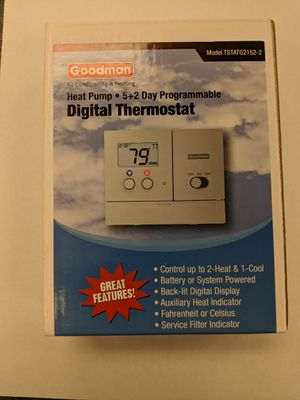 Goodman TSTATG2152-2 Thermostat 2H/1C for Sale in Columbus, OH