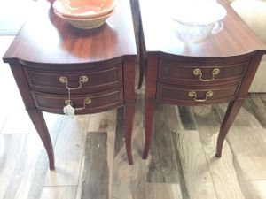 Pair 2 Drawer Wood End Side Tables $295 for Sale in Warminster, PA