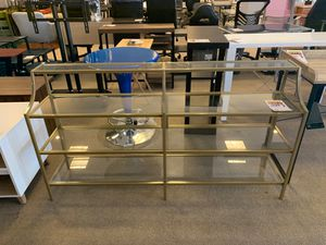 glass storage shelves with golden trim for Sale in Phoenix, AZ
