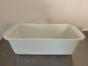 Pyrex Corning milk glass loaf pan excellent vintage condition for Sale in Milwaukee, WI