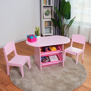 Brand New Kids Pink Table and Chair Set with Storage for Sale in Beverly Hills, CA