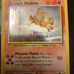 Blaines moltres Holo Pokemon Card for Sale in Norco, CA