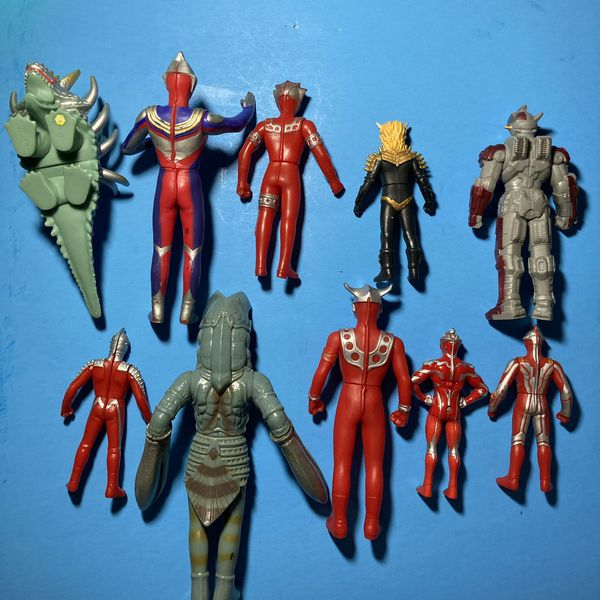Lot Of 10 Bandai Ultraman Figures