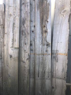Cedar Wood 8 ft planks aged from Venice Beach 12,in wide over 15 full pieces and 30 close for Sale in Palmdale, CA