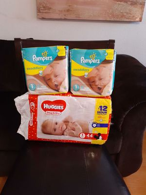 Size 1 huggies and pampers for Sale in Grand Prairie, TX