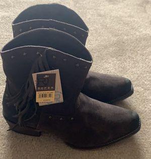 Roper Women's Brown Fringe Boots - Snip Toe for Sale in Littleton, CO