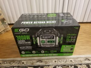 New Ego 56-Volt 3000-Watt Nexus Portable Power Station Generator Powered with Two 7.5 Ah Batteries for Sale in Renton, WA
