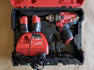 Milwaukee M12 FUEL 12-Volt Lithium-Ion Brushless Cordless 1/2 in. Hammer Drill Kit for Sale in Greenville, SC
