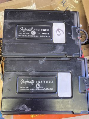 2 Grafmatic film holders. Price $50.00 each for Sale in Murrieta, CA