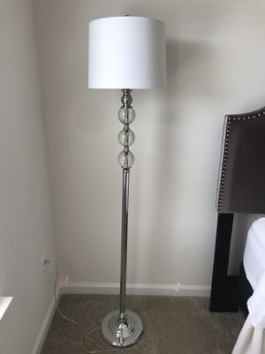 Floor Lamp - Chrome - Like new! Great condition! for Sale in Gainesville, VA
