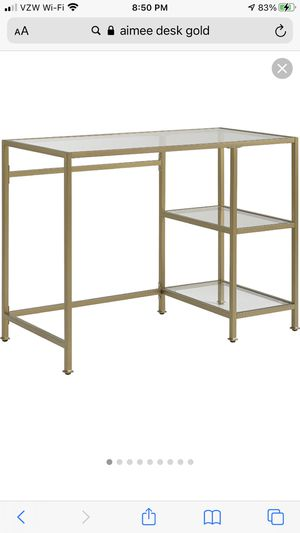 Gold desk - new in box - see photo for what it looks like assembled for Sale in San Jose, CA