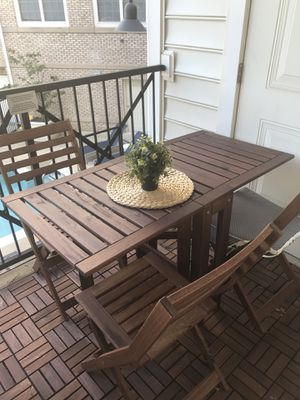 Outdoor table+3 chairs for Sale in Fairfax, VA