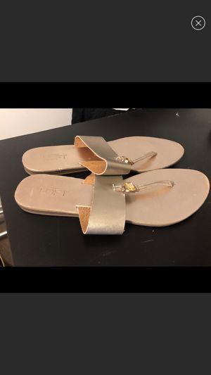 Anne Taylor Loft Gold sandals for Sale in Alexandria, VA