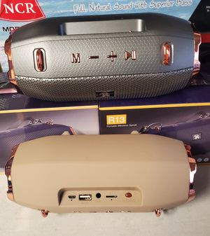 New portable wireless speaker rechargeable Bluetooth, fm,usb, aux, tf,sd for Sale in Riverside, CA
