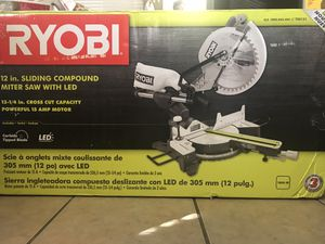 RYOBI 12 in miter saw with Led for Sale in Bakersfield, CA
