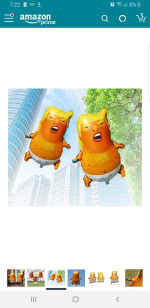 Angry Baby Trump Foil Balloons Mini Size Funny Toy Donald Trump for Sale in South El Monte, CA