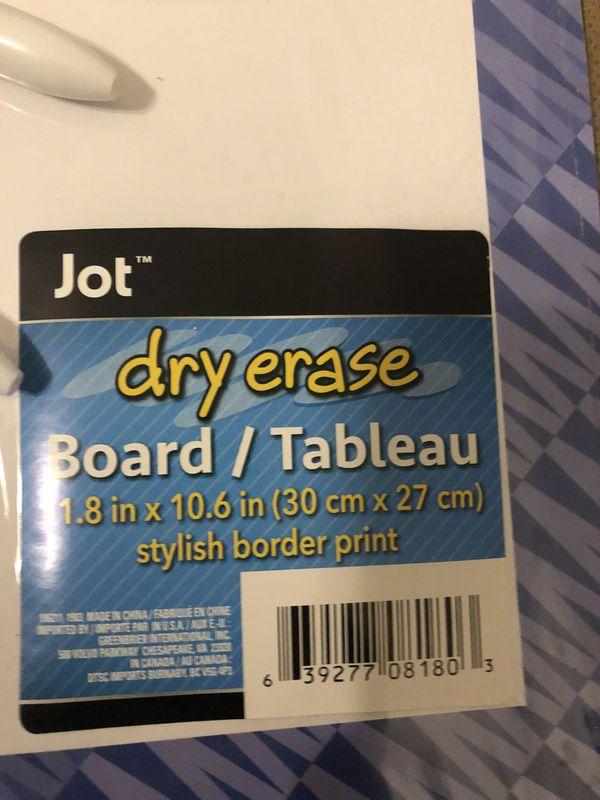 Dry erase board combo
