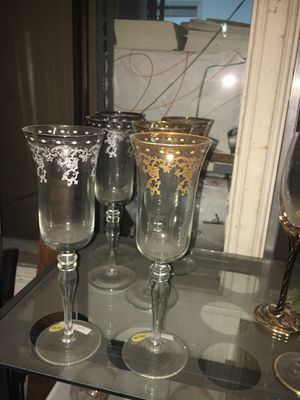 Champagne glasses 6 pieces set for Sale in Los Angeles, CA