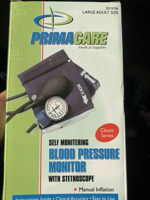 PRIMACARE SELF MONITERING BLOOD PRESSURE MONITOR WITH STETHOSCOPE for Sale in Lawrence, IN