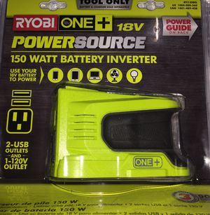 Ryobi 18V 150Watt Power Inverter with 2 USB ports and 12 V for Sale in Seattle, WA