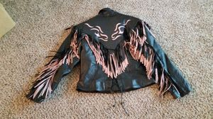 Black leather riding outfit LADIES LG for Sale in Raleigh, NC