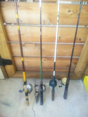 Fishing Rods and Reels $15 Each for Sale in Mesquite, TX